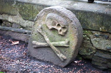 Black Death Gravestone.