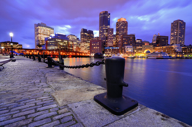 Boston Harbor Skyline.