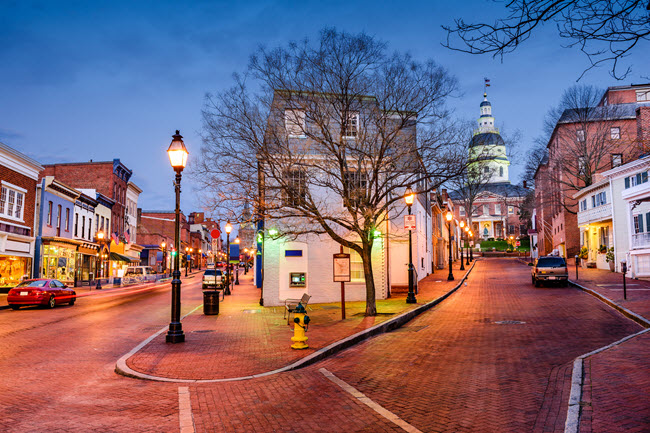 Downtown Annapolis.