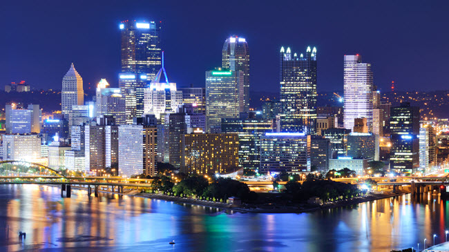 Downtown Pittsburgh Skyline.