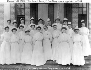 First 20 Navy nurses.