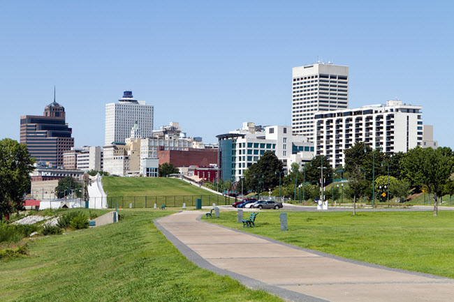 Memphis Park Downtown Skyline.