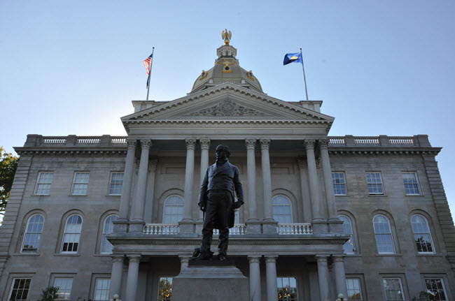 New Hampshire State Capital Building.