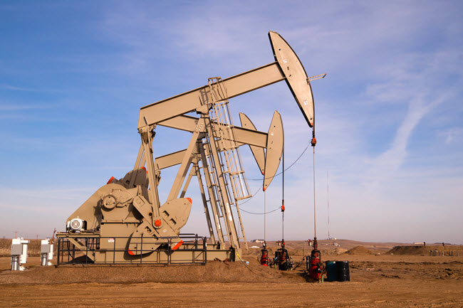 Oil Pump Located in North Dakota.