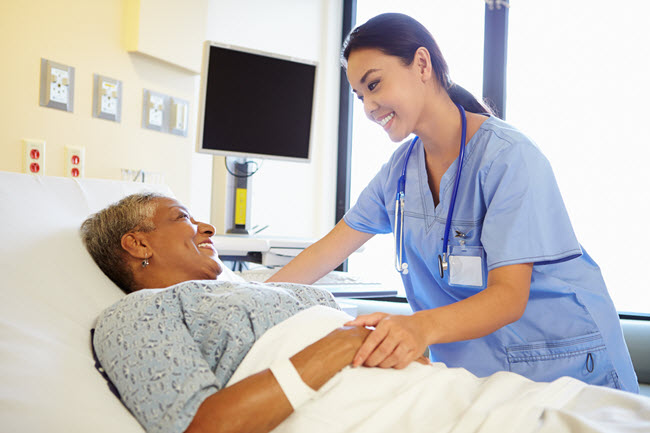 Nurse Talking to a Senior Citizen Patient.